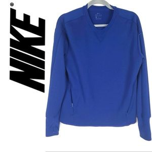 NIKE DRi-Fit Royal Blue pull over size Large